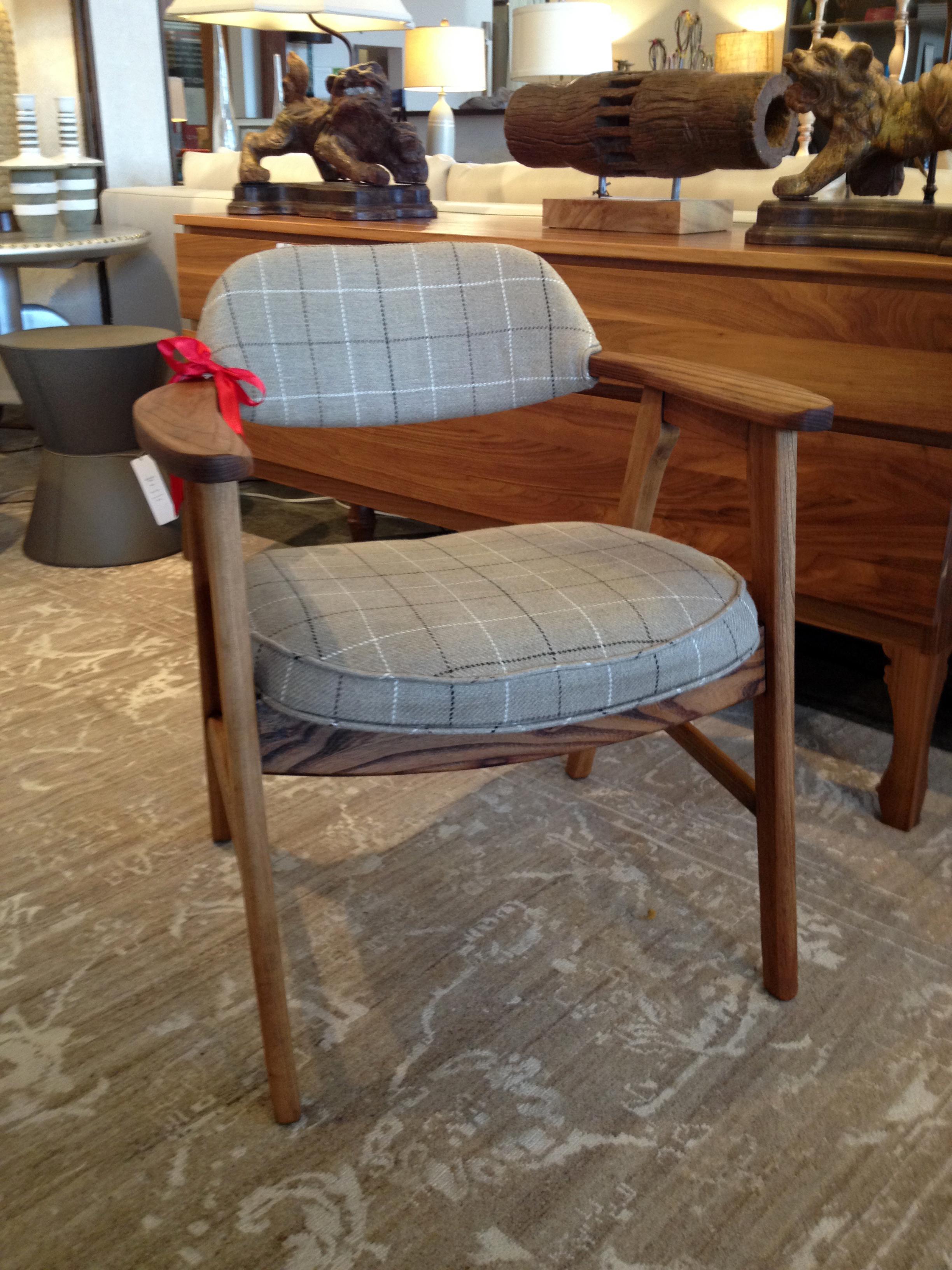 Design Samaritan Plaid Occasional Chair